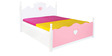 Victoria Queen Size Bed in Pink & White Colour by Alex Daisy