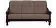 Victoria Three Seater Sofa in Light Brown Colour by Maruti Furniture