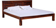 Vipra Handcrafted King Size Bed in Honey Oak Finish by Mudramark