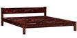 Visaya Handcrafted Queen Size Bed in Honey Oak Finish by Mudramark