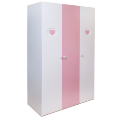 Victoria Wardrobe in Pink and White Colour by Alex Daisy