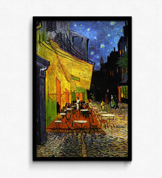 Vincent Van Gogh - The Caf Terrace On The Place Du Forum, Arles, At Night, C.1888 Framed Poster