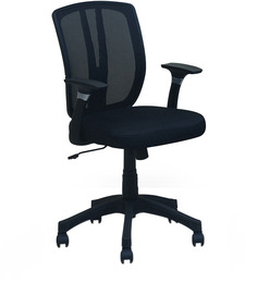 Viva Medium Back Office Chair in Black colour by @home