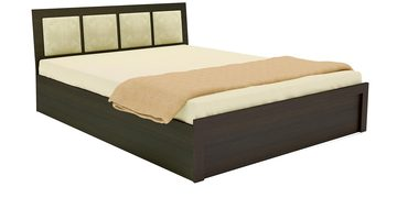 Virginia Queen Bed With Box Storage In Midnight Oak  Finish By UNiCOS