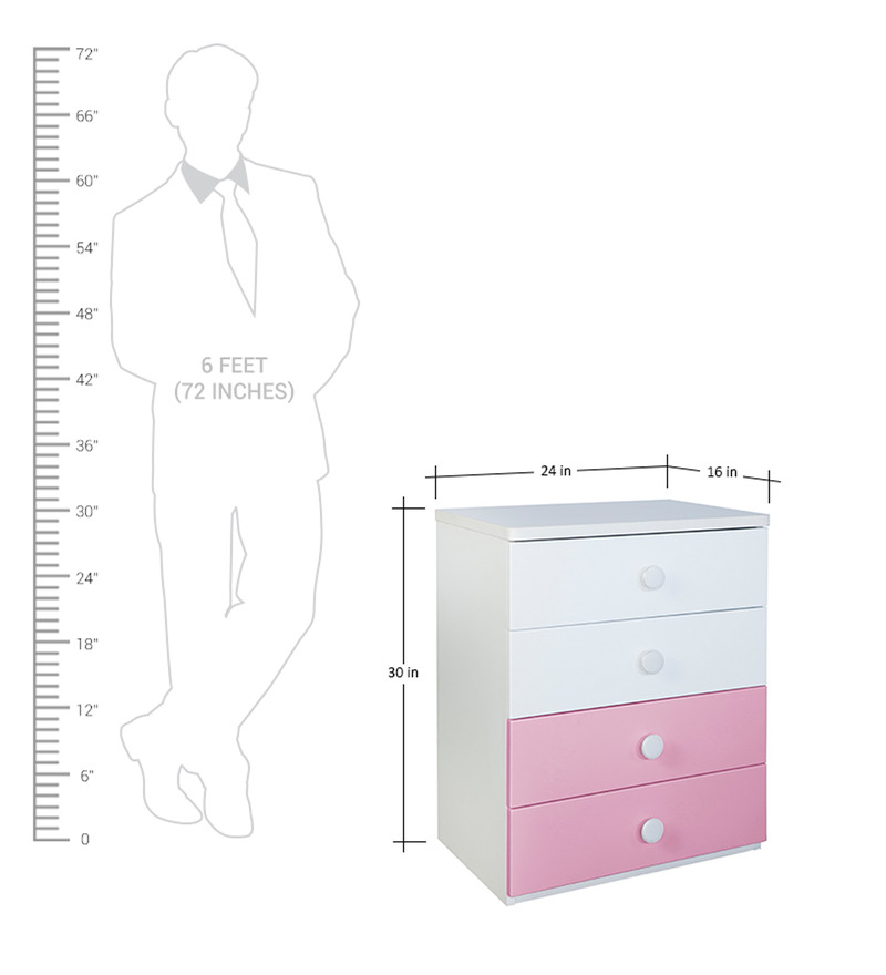affordable kitchen cabinets buy chest of drawer in pink and white colour by 10495
