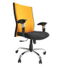 Victor Medium Back Ergonomic Chair in Yellow & Black Colour by Starshine