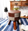 Hadise Stool in Brown And Grey by Bohemiana