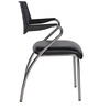 Victoria Chair in Black Colour by Chromecraft