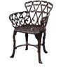 Victorian Antique Copper Cast Aluminium Round Table & 2 Chair by Karara Mujassme