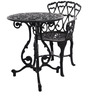 Victorian Style Antique Outdoor Set in Black Colour by Karara Mujassme