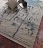 Vikram Carpets Blue Viscose 96 x 60 Inch Hand Tufted Carpet