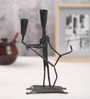 Villcart Black Wrought Iron Valentine Candle Holder