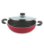 Vinod Cookware Stainless Steel Non- Stick Induction Friendly Kadai with Lid