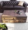 Genuine Leather Vintage Streamer Trunk Coffee Table By Studio Ochre