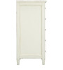 Vintage Tall Chest of Drawers in White Colour by Asian Arts