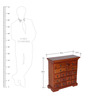 Halford Chest of Drawers in Honey Oak Finish by Amberville