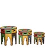 Uparaga Hand Painted Set of Tables by Mudramark