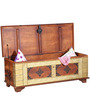 Vipra Solid Wood Trunk Box in Honey Oak Finish by Mudramark