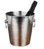 Virgin Craft Stainless Steel Hammered Ice Cum Champagne  Bucket