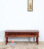 Visikha Bench in Honey Oak Finish by Mudramark