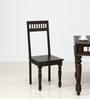 Visikha Dining Chair in Warm Chestnut Finish by Mudramark