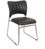 Chair with Fixed Base in Black Colour by KS