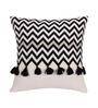 Vista Black Cotton 16 x 16 Inch Cushion Cover