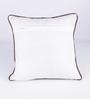 Vista Home Fashion Brown Cotton 18 x 18 Inch Embroidered Cushion Cover