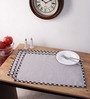 Vista Home Fashion Gray Cotton 20x14 INCH Placemat - Set of 6