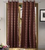 Vista Home Brown Polyester 84 x 55 Inch Fashion Door Curtain - Set of 2
