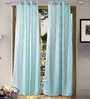Vista Home Light Blue Polyester 84 x 55 Inch Fashion Door Curtain - Set of 2