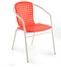 Vittorio Arm Chair in Red Colour by @ Home