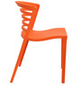 Vivo Cafeteria Chair Set of Two in Orange Color By Attro