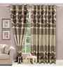 Vorhang Grey Polyester 60 x 45 Inch Eyelet Window Curtain- Set of 2