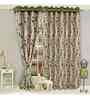 Vorhang Green Polyester 84 x 45 Inch Eyelet Door Curtain- Set of 2