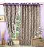 Vorhang Purple Polyester 60 x 45 Inch Eyelet Window Curtain- Set of 2
