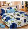 Vorhang Sunflower Multicolour Cotton Double Bed Sheet (With Pillow Covers)