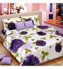 Vorhang Sunflower Purple Cotton Double Bed Sheet Set
