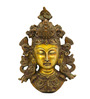 Vyom Shop Brass Buddha Face Wall Hanging