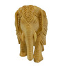 Vyom Shop Wooden 6 x 3.5 x 5 Inch Carved Elephant Showpiece