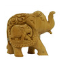 Vyom Shop Wooden 3 x 1.5 x 2.5 Inch Elephant Up Trunk Showpiece