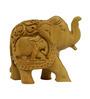 Vyom Shop Wooden Elephant Up Trunk Showpiece