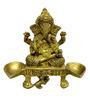 Vyom Shop Brass Ganesh Divi