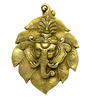 Vyom Shop Brass Ganesh on Leaves Wall Hanging