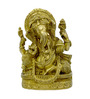 Vyom Shop Brass Color Ganesh Plate Wall Hanging Metal Wall Art
