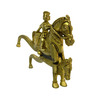 Vyom Shop Brass Man Sitting on Horse Cutter Showpiece