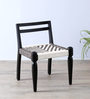 Vyuti Chair with Weaving Work in Espresso Walnut Finish by Mudramark