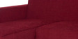 Walden RHS Lounger Sofa in Maroon Colour by Urban Living