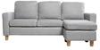 Walton 3 Seater Sofa + Ottoman in Grey Colour by Furny