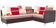 Walton RHS Five Seater Corner Sofa in Red & Cream Colour by Furnitech